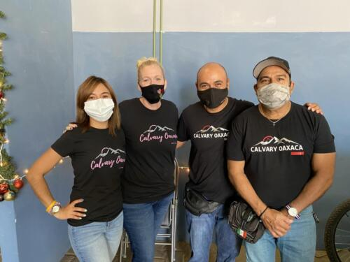 Serving Jesus and sporting our Calvary Oaxaca shirts