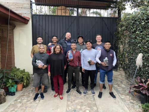 Jon and Josue with the men at the rehab.  The Lord blessed them all with new bibles