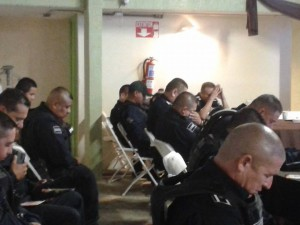 Prime rib dinner for Police officers of Tijuana