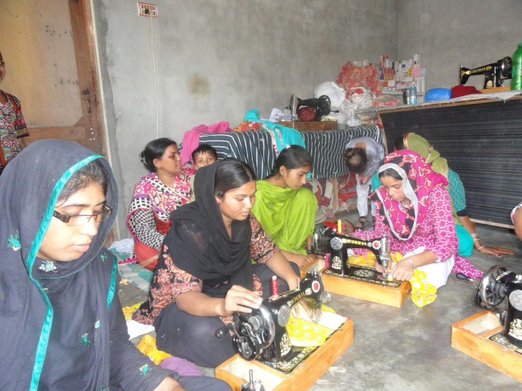 New Students at Sewing Center in the next village