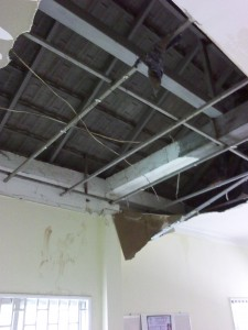 TIC's ceiling collapsed