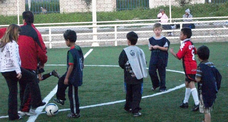 Daniel at Soccer Practice