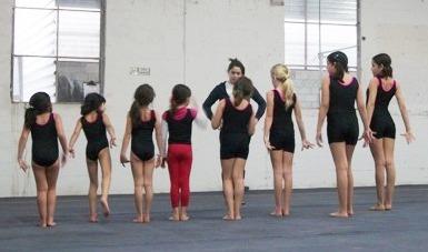 Grace at Gymnastics Practice!