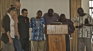Praying for Chris, Gary and Michael Kibe as they go for their next mission.