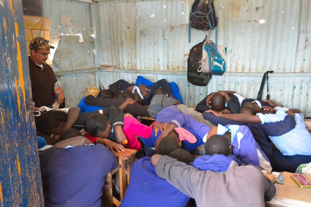 Paul lead his class in Prayer.