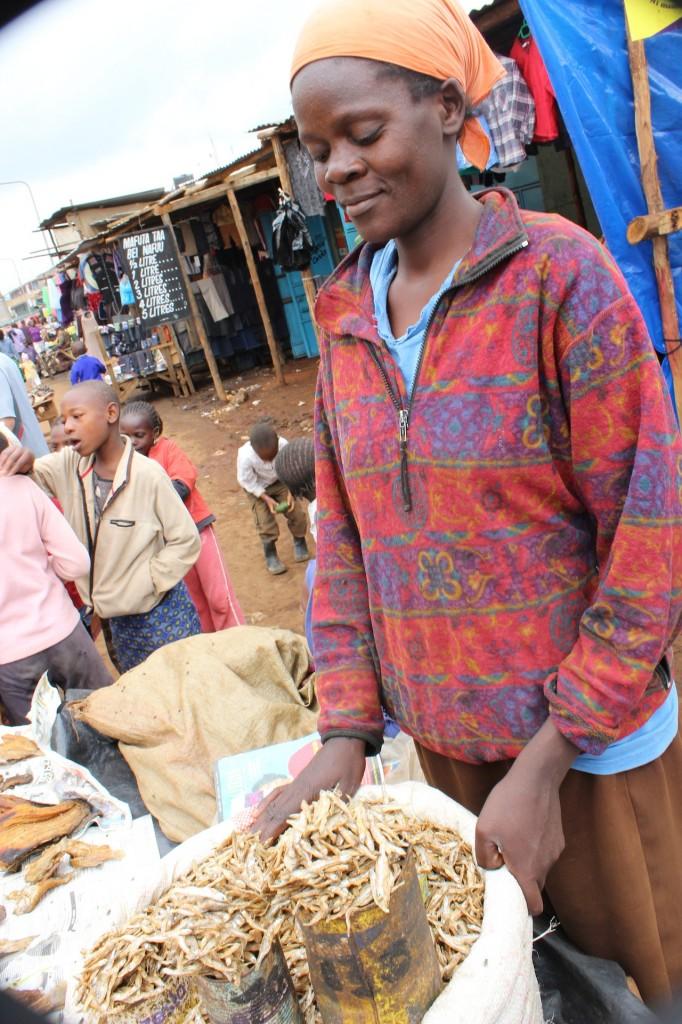 Fish for sale at  Kawangware, Kenya