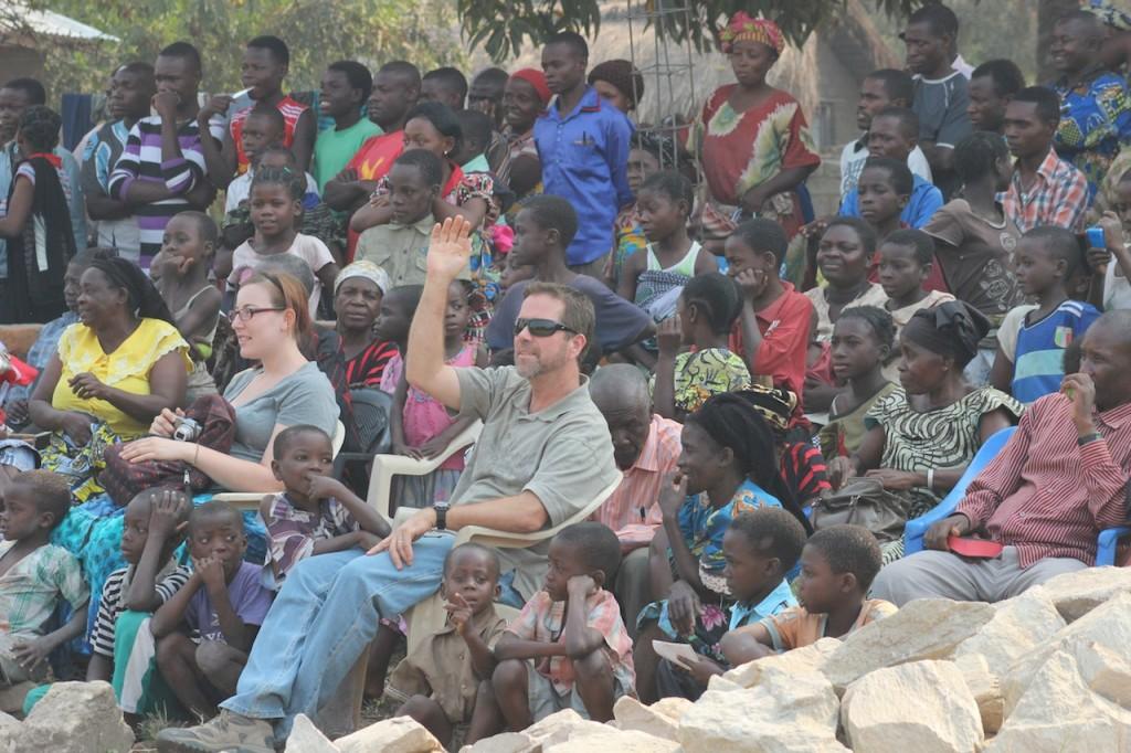 Pastor Brian at the concert at CC Baraka.