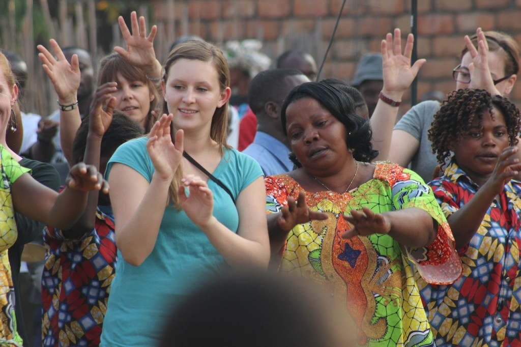The Women joined in on the choir practice of CCBaraka
