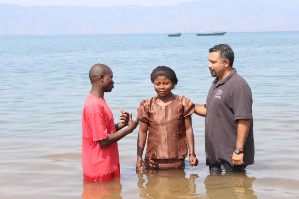 Baptism at Lake Tanganyika