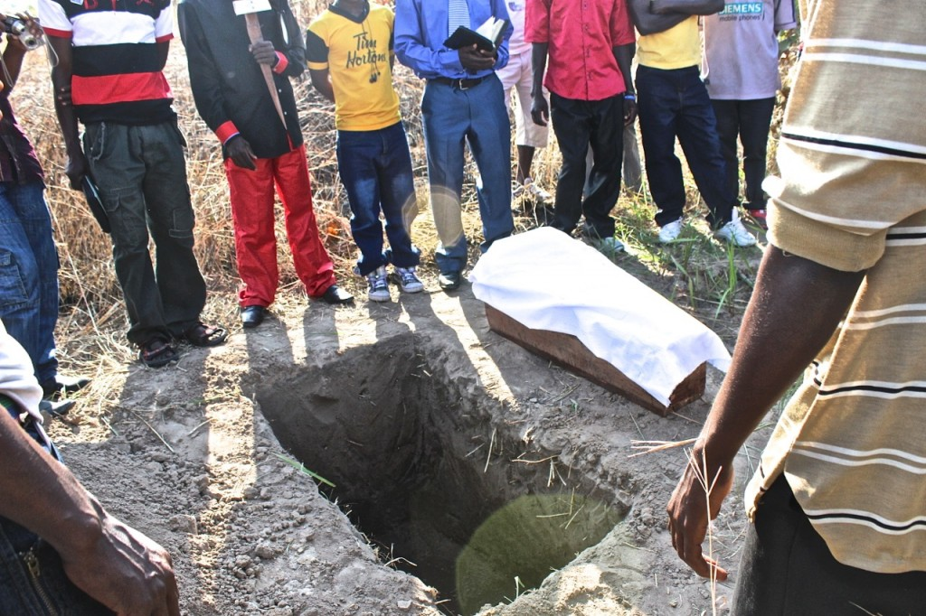 On Sunday morning we have church service then in the after noon we did baptisms followed by a funeral service and burial.